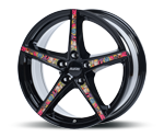 ALUTEC RAPTR DIAMOND-BLACK DECOTEC Felgen