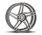 ARTFORM AF-601 SMOKE GREY POLISHED Felgen