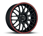 BARRACUDA KARIZZMA MATT BLACK PURESPORTS - COLOR TRIM ROT Felgen