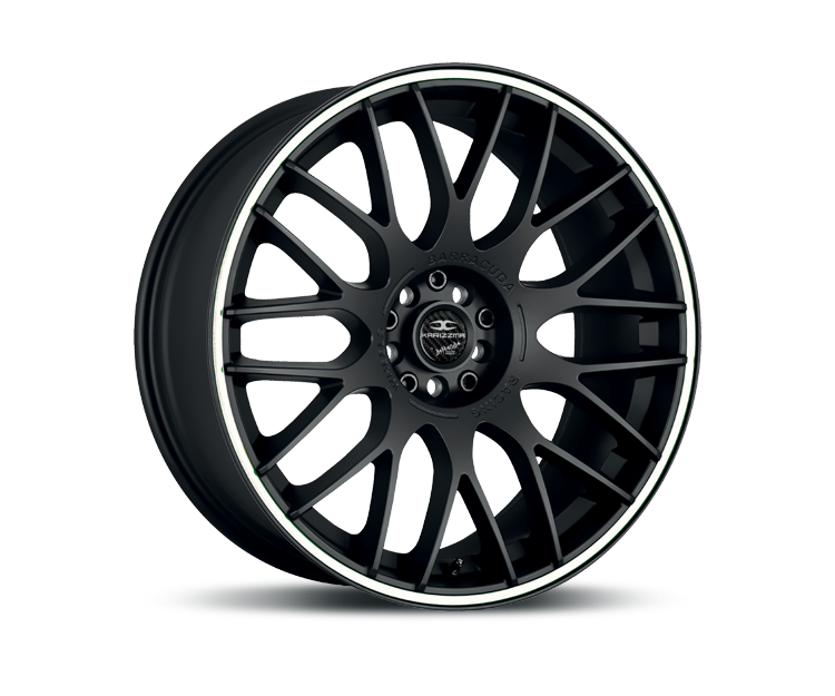 BARRACUDA KARIZZMA MATT BLACK PURESPORTS - COLOR TRIM WEISS Felgen