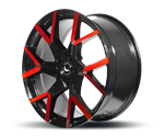 BARRACUDA TZUNAMEE EVO BLACK GLOSS FLASHRED Felgen