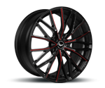 BARRACUDA ULTRALIGHT 3.0 BLACK GLOSS FLASHRED Felgen