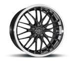 BARRACUDA VOLTEC T6 HIGH GLOSS BLACK INOX LIP Felgen