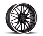 BARRACUDA VOLTEC T6 MATT BLACK PURESPORTS - COLOR TRIM WEISS Felgen