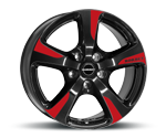 BORBET CC BLACK RED SPORTS Felgen