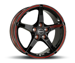 BORBET FS BLACK RED SPORTS Felgen