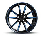 BORBET LX BLACK MATT SPOKE RIM BLUE POLISHED Felgen