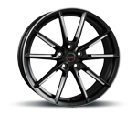 BORBET LX BLACK MATT SPOKE RIM POLISHED