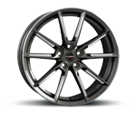 BORBET LX GRAPHITE SPOKE RIM POLISHED