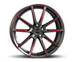 BORBET LX GRAPHITE SPOKE RIM RED POLISHED Felgen