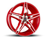 BORBET XRT RACETRACK RED POLISHED Felgen