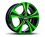 CARMANI 11 RUSH NEON GREEN POLISH Felgen