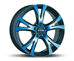 CARMANI 9 COMPETE LIGHT BLUE POLISH Felgen