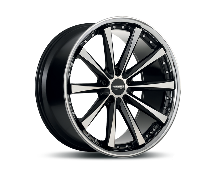 CORSPEED ARROWS HIGH GLOSS BLACK POLISHED INOX LIP Felgen