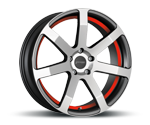 CORSPEED CHALLENGE HIGH GLOSS GUNMETAL POLISHED - UNDERCUT COLOR TRIM ROT