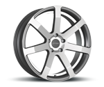 CORSPEED CHALLENGE HIGH GLOSS GUNMETAL POLISHED - UNDERCUT COLOR TRIM WEISS Felgen
