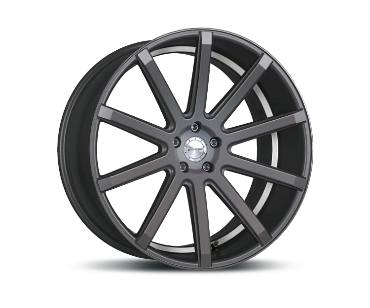 CORSPEED DEVILLE GUNMETAL UNDERCUT COLOR TRIM WEISS Felgen