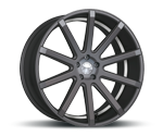 CORSPEED DEVILLE MATT GUNMETAL UNDERCUT COLOR TRIM WEISS Felgen
