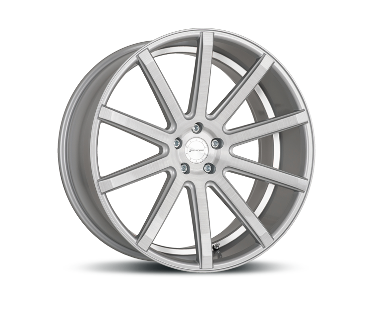 CORSPEED DEVILLE SILBER BRUSHED SURFACE UNDERCUT COLOR TRIM WEISS Felgen