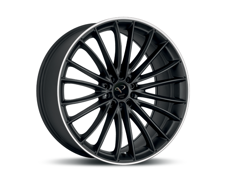 CORSPEED LE MANS MATT BLACK PURESPORTS - COLOR TRIM WEISS Felgen