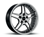 CORSPEED VEGAS HIGH GLOSS BLACK INOX LIP Felgen