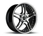 CORSPEED VEGAS HIGH GLOSS BLACK POLISHED INOX LIP