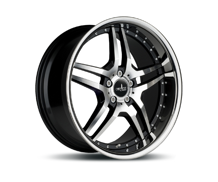 CORSPEED VEGAS HIGH GLOSS BLACK POLISHED INOX LIP Felgen