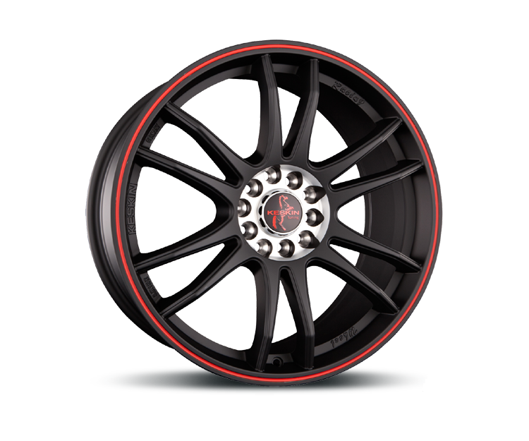 KESKIN KT12 MATT BLACK LIP RED Felgen