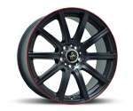 KESKIN KT16 MATT BLACK LIP RED Felgen
