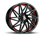 KESKIN KT20 BLACK PAINTED RED INSIDE Felgen