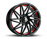KESKIN KT20 MATT BLACK RED INSIDE Felgen