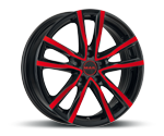 MAK MILANO BLACK AND RED Felgen