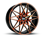 MAM B2 BLACK FRONT ORANGE Felgen