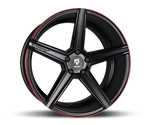 MBDESIGN KV1 DC BLACK RED Felgen