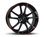 MBDESIGN MB1 BLACK RED SHINY Felgen