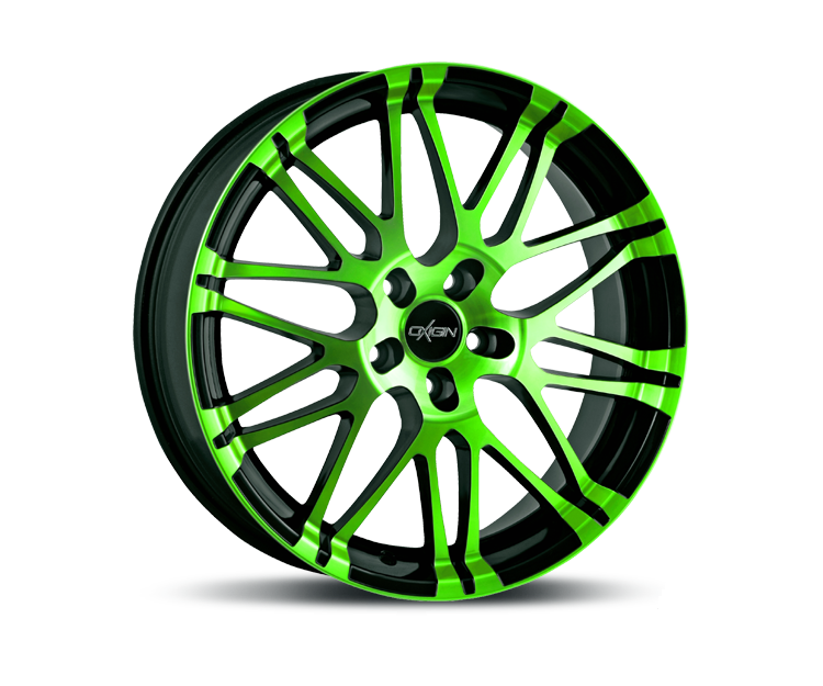 OXIGIN 14 OXROCK NEON GREEN POLISH Felgen