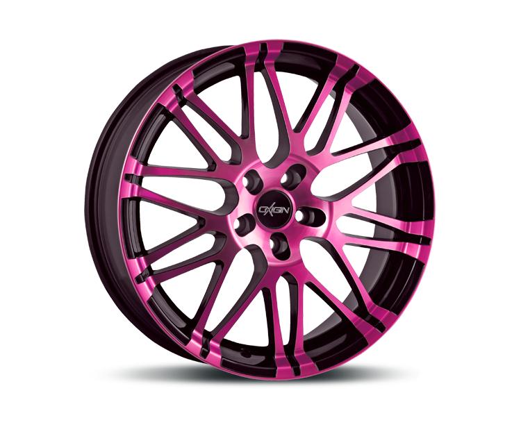 oxigin 14 oxrock pink polish in 7 5 x 17 zoll felgen vom. Black Bedroom Furniture Sets. Home Design Ideas