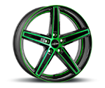OXIGIN 18 CONCAVE NEON GREEN POLISH Felgen