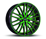 OXIGIN 19 OXSPOKE NEON GREEN POLISH Felgen