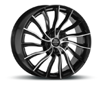 OXXO PONDORA MATT BLACK POLISHED Felgen