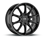 OZ HYPER XT HLT GLOSS BLACK DIAMOND LIP Felgen