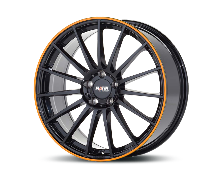 PLATIN P75 BLACK LIP ORANGE Felgen