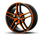 RH-ALURAD BE TWIN COLOR POLISHED-ORANGE Felgen