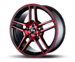 RH-ALURAD BE TWIN COLOR POLISHED-RED Felgen