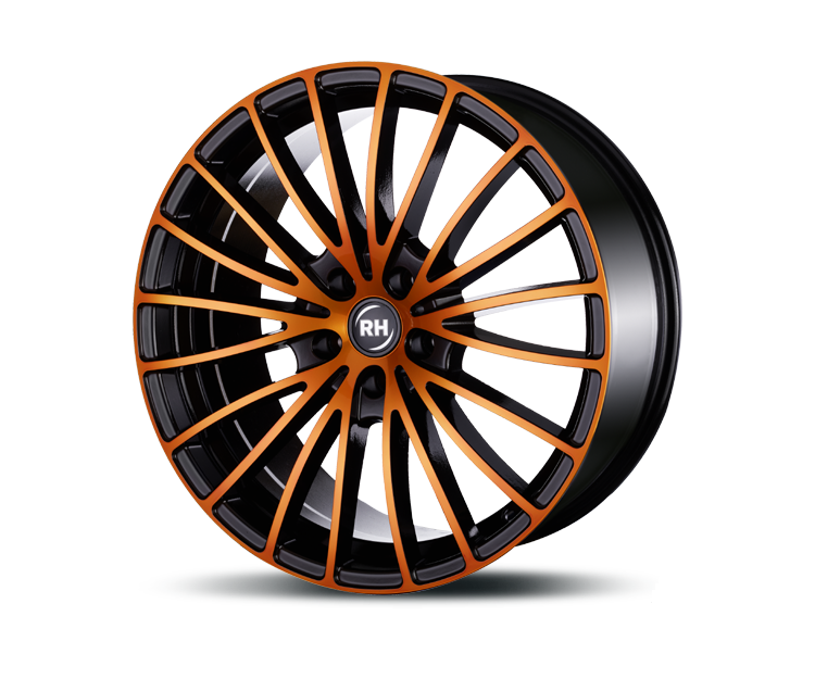 RH-ALURAD BM MULTISPOKE COLOR POLISHED-ORANGE Felgen