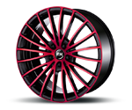 RH-ALURAD BM MULTISPOKE COLOR POLISHED-RED Felgen