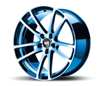 RH-ALURAD BO FLOWFORMING COLOR POLISHED-BLUE Felgen