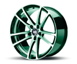 RH-ALURAD BO FLOWFORMING COLOR POLISHED-GREEN Felgen