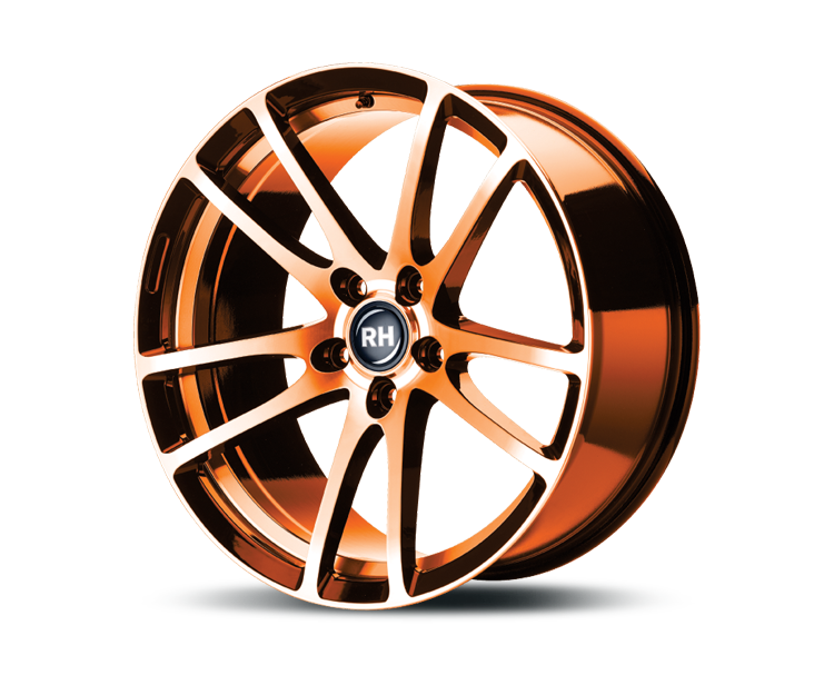 RH-ALURAD BO FLOWFORMING COLOR POLISHED-ORANGE Felgen
