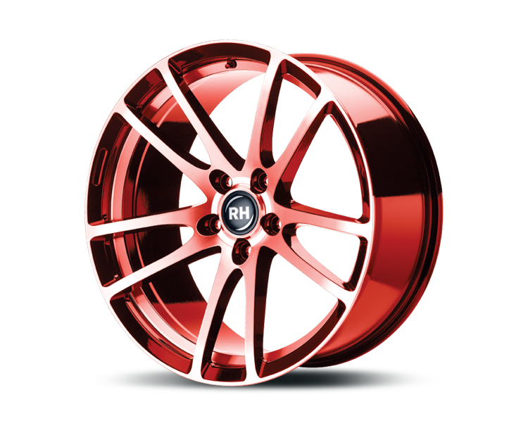 RH-ALURAD BO FLOWFORMING COLOR POLISHED-RED Felgen
